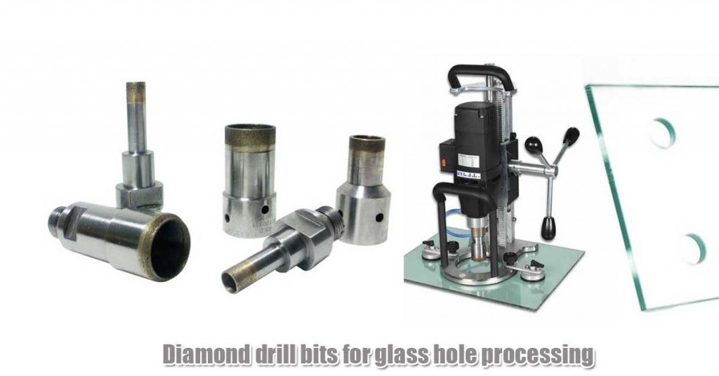 Diamond drill bits for glass hole processing