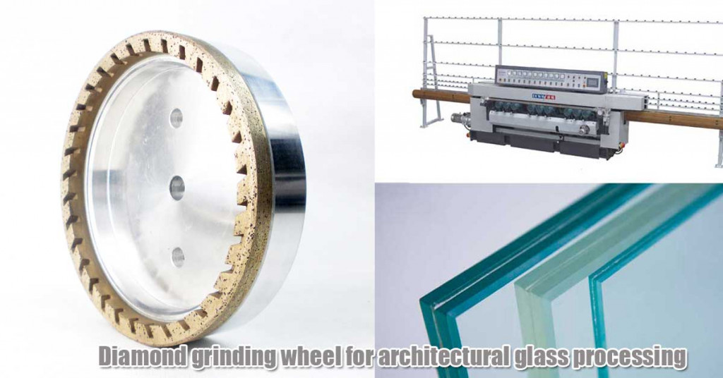 Diamond grinding wheel for architectural glass processing
