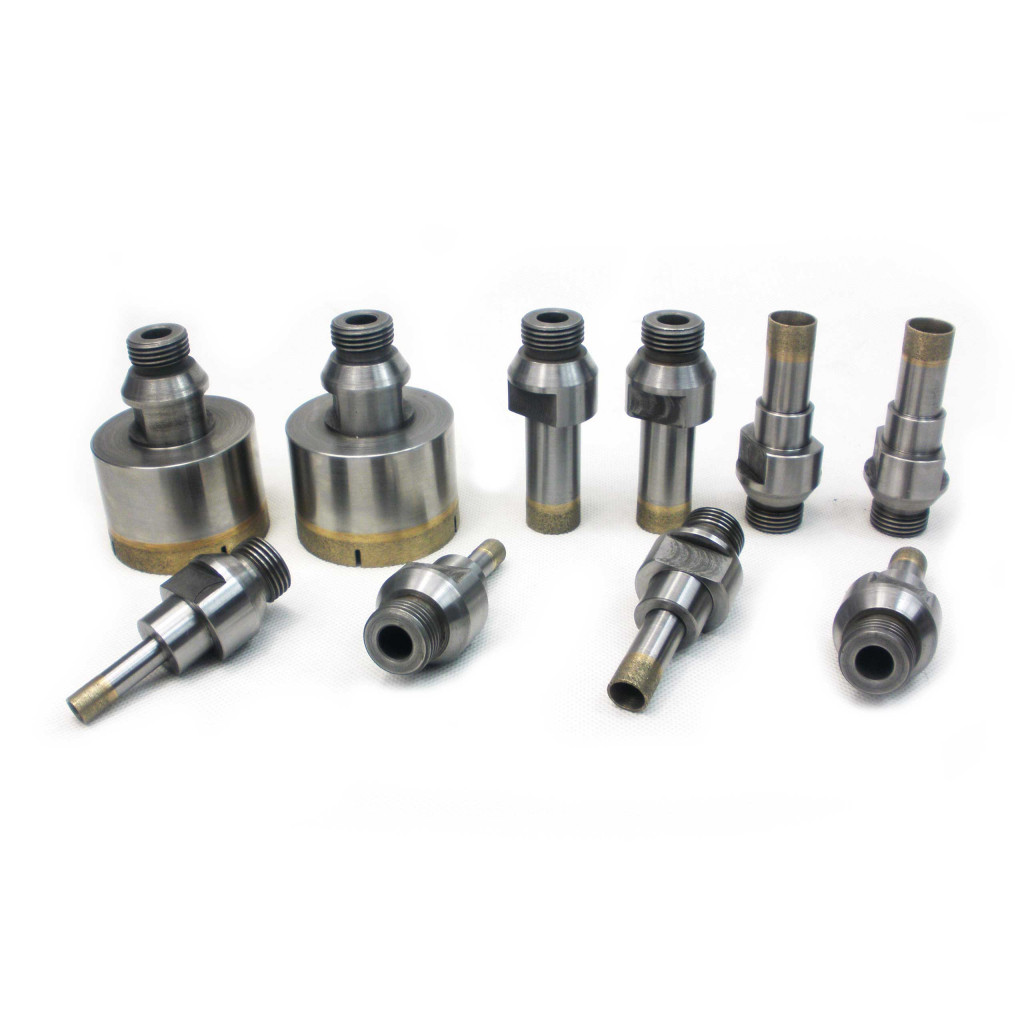 External threaded shank diamond drill bits