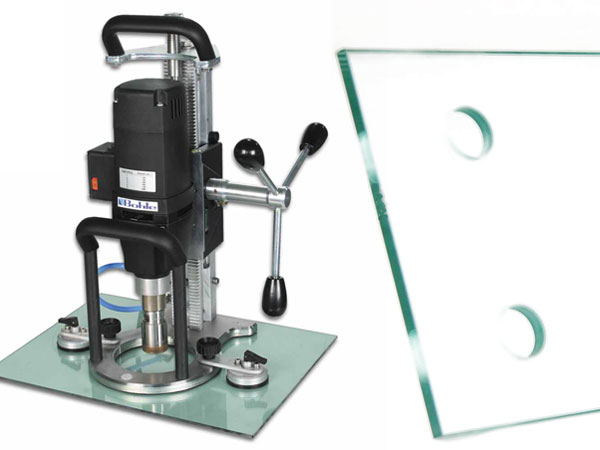 Glass hole drilling