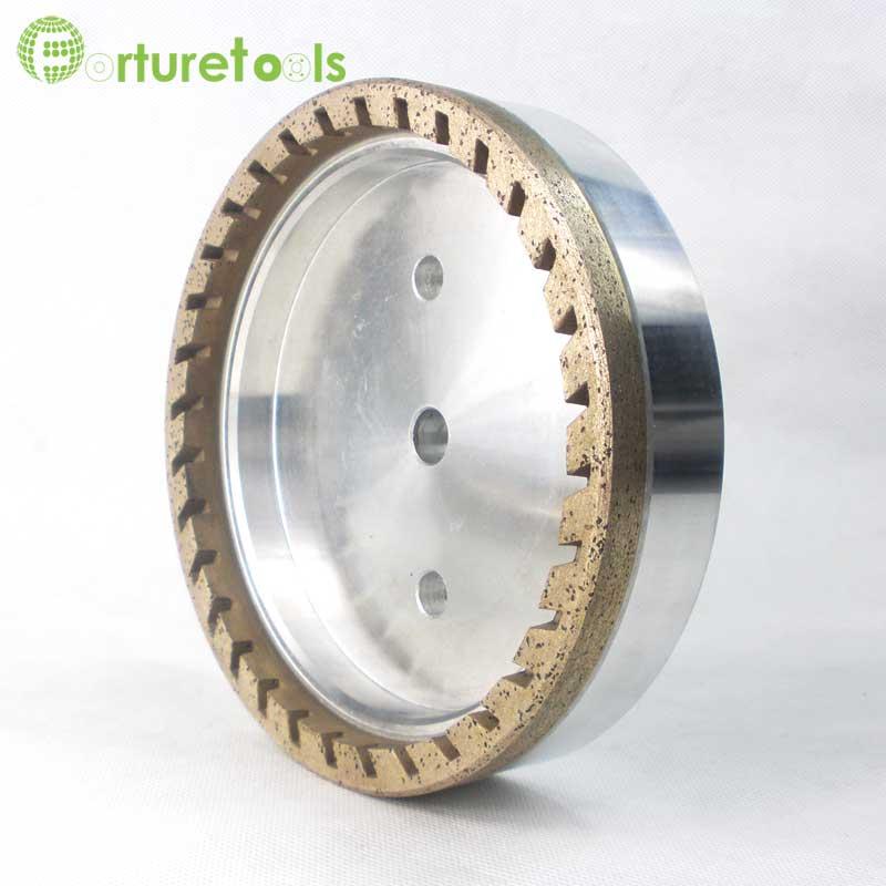 Internal half segmented diamond wheel for glass