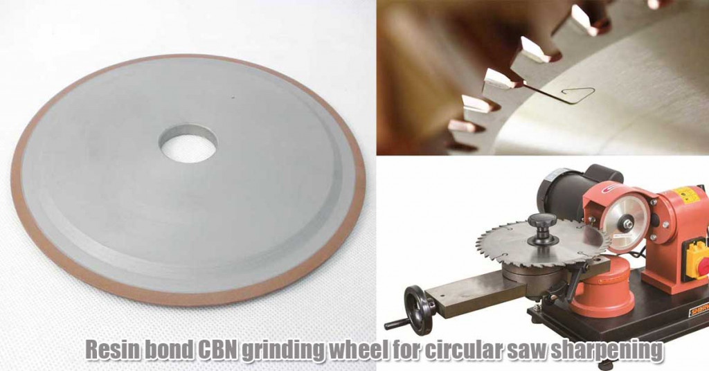 Resin bond CBN grinding wheel for circular saw sharpening