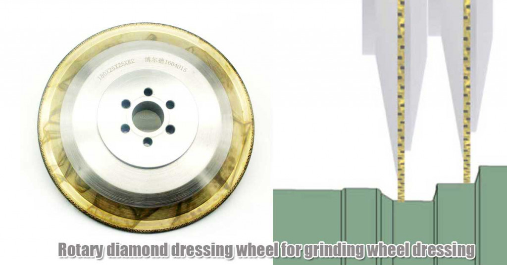 Rotary diamond dressing wheel for grinding wheel dressing