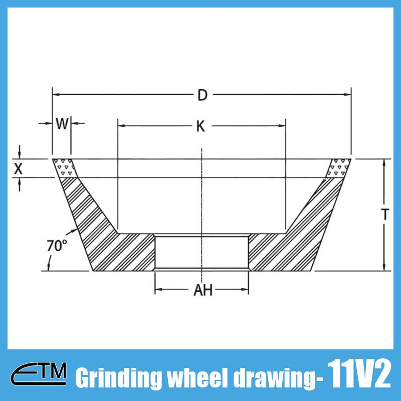11V2 grinding wheel