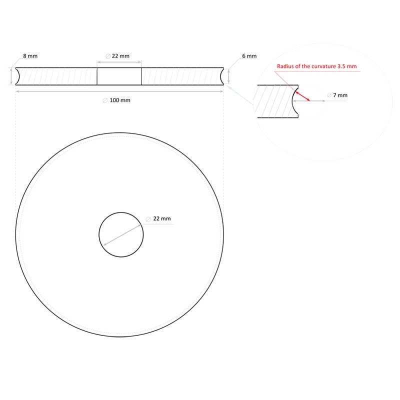 Electroplated-Pencil-Edge-Diamond-Wheel-drawing