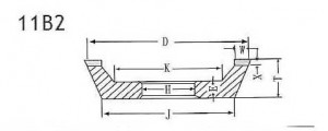 11B2 grinding wheel shape