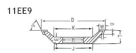 11ee9 grinding wheel shapes