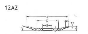 12A2 grinding wheel shape