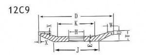 12C9 grinding wheel shape
