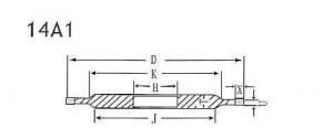 14A1 grinding wheel shape