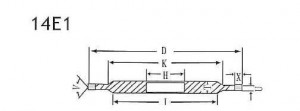 14E1 grinding wheel shape