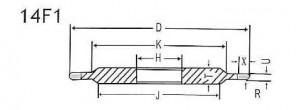 14F1 grinding wheel shape