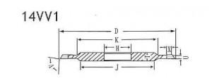 14VV1 grinding wheel shape