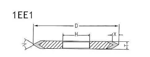 1ee1 grinding wheel shapes