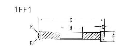 1FF1 grinding wheel shape