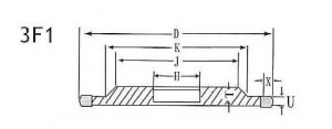 3F1 grinding wheel shape