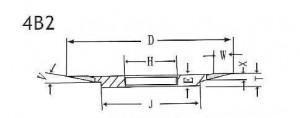 4B2 grinding wheel shape