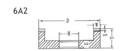 6A2 grinding wheel shape
