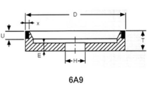 6a9 grinding wheel shape