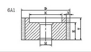 6a1 grinding wheel shape