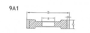 9A1 grinding wheel shape
