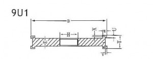 9U1 grinding wheel shape