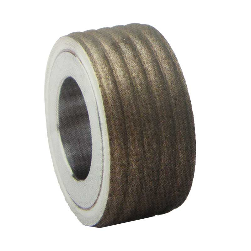 Diamond dressing roller for corrugated roller of packaging machine