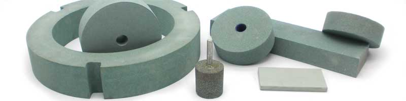Green silicon carbide grinding wheels