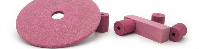 Pink aluminum oxide grinding wheels