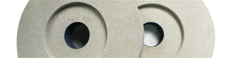 Single crystal aluminum oxide grinding wheels