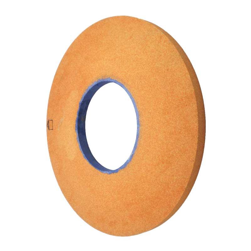 WA grinding wheel with ferric oxide