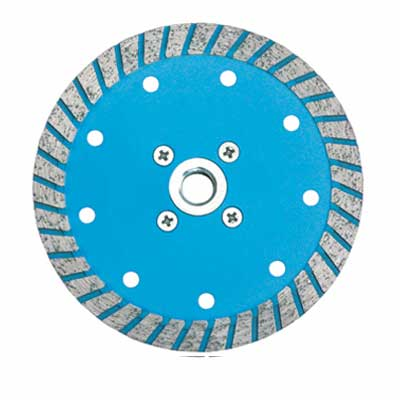 Broad Segment Turbo Saw Blade With Flange