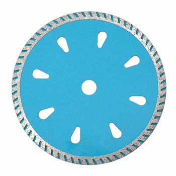Fine Turbo Saw Blade With Droplike Hole