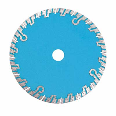 Segmented Turbo Saw Blade With Circular Protective Segments