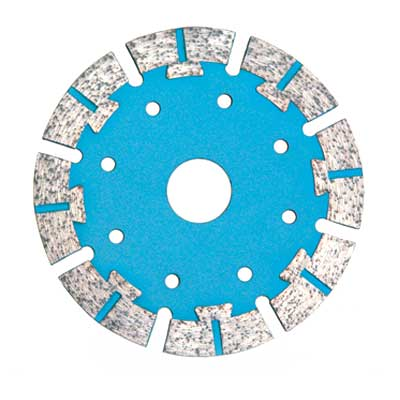 Turbo Saw Blade With Fan Type Protective Segments