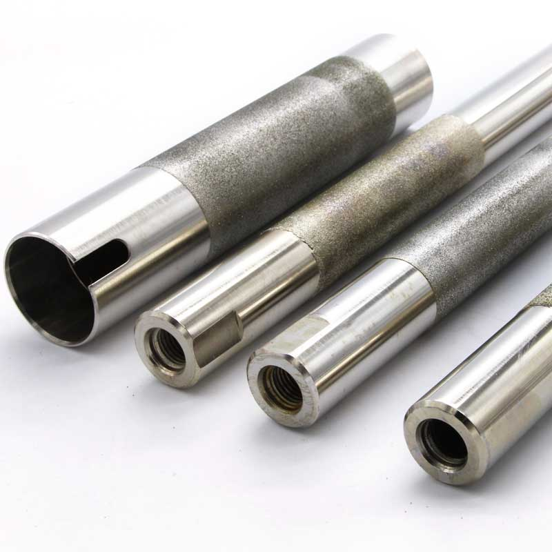 Electroplated diamond rods