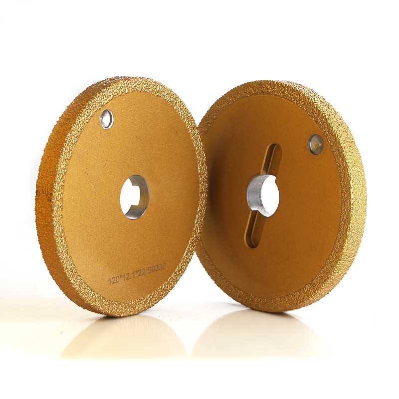 Brazed diamond abrasive wheel