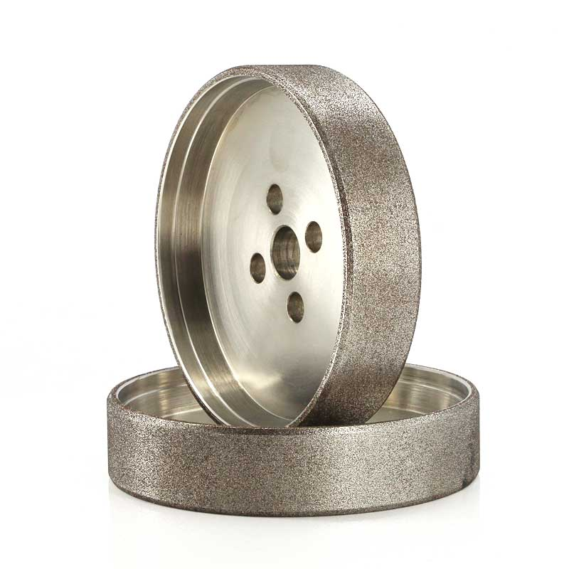 straight cup diamond plated grinding wheel