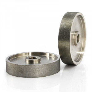 Electroplated diamond grinding wheels for gemstones