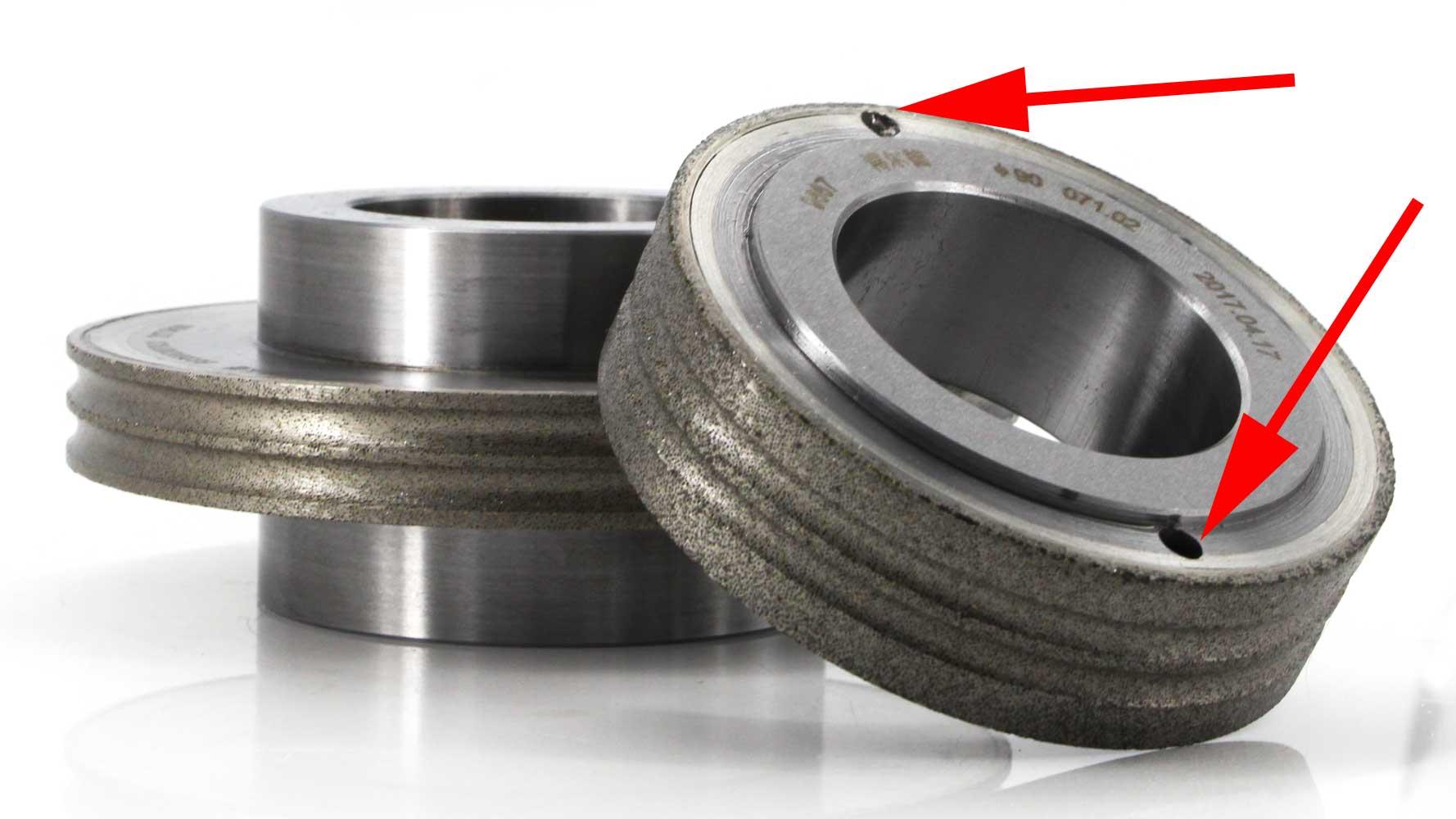 balance hole on diamond dressing wheel