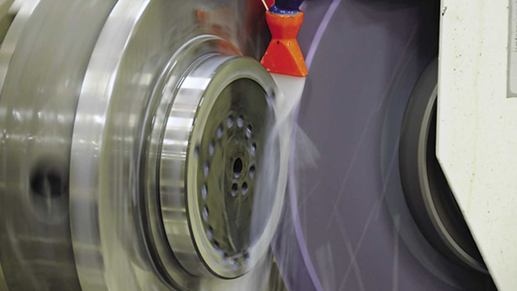 grinding-wheel with coolant fluid
