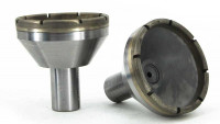 Sintered metal bond grinding tools for optical components