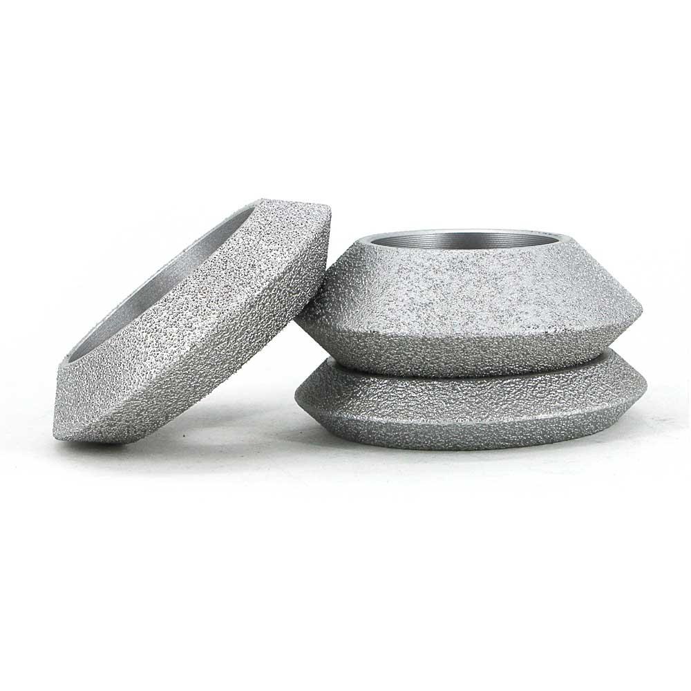 Brazed diamond V shape edging wheels