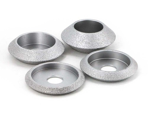 Brazed diamond V shape edging wheels