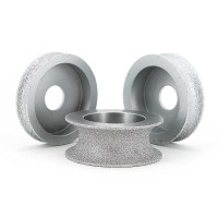 Brazed diamond concave grinding wheels