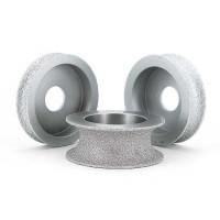 Brazed diamond concave grinding wheels