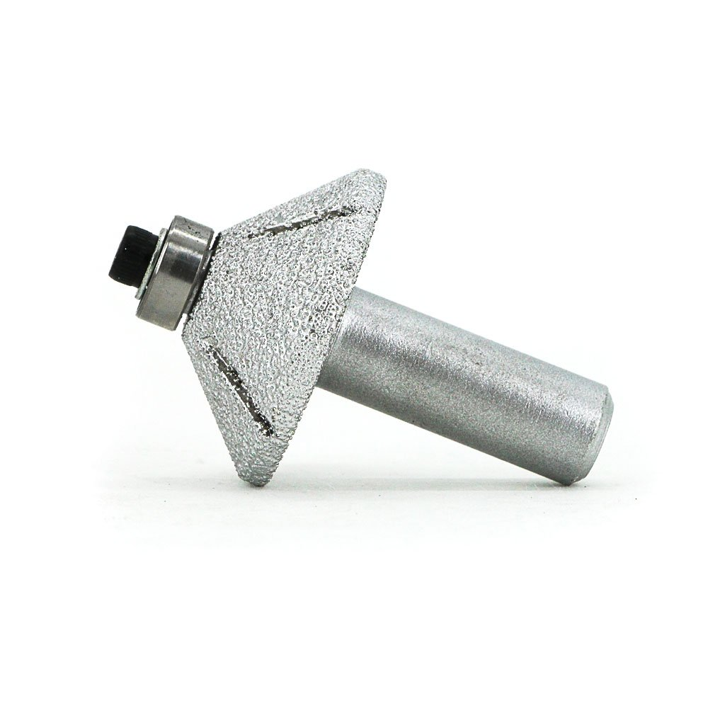 Brazed diamond inclined angle milling cutter mounted