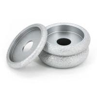 Brazed diamond semicircular convex edge grinding wheels