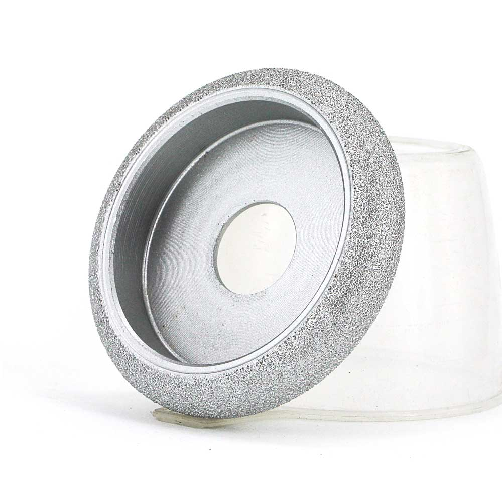 Brazed diamond semicircular convex edge grinding wheels