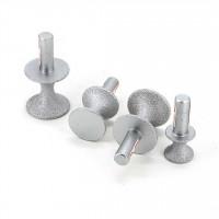 Brazed diamond semicircular stone trimming wheel